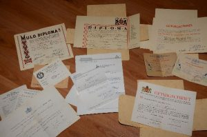 Oude papieren van paps en mams